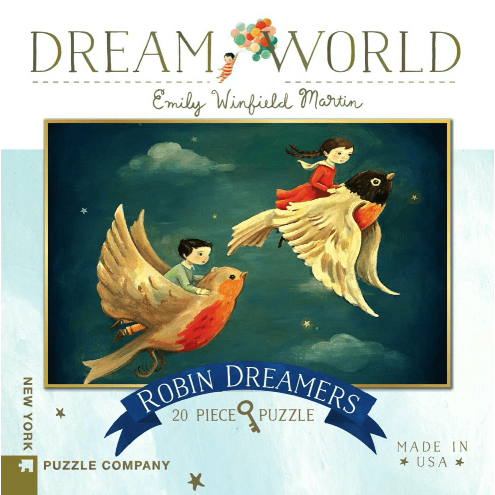 New York Puzzle Co Robin Dreamers 20pc