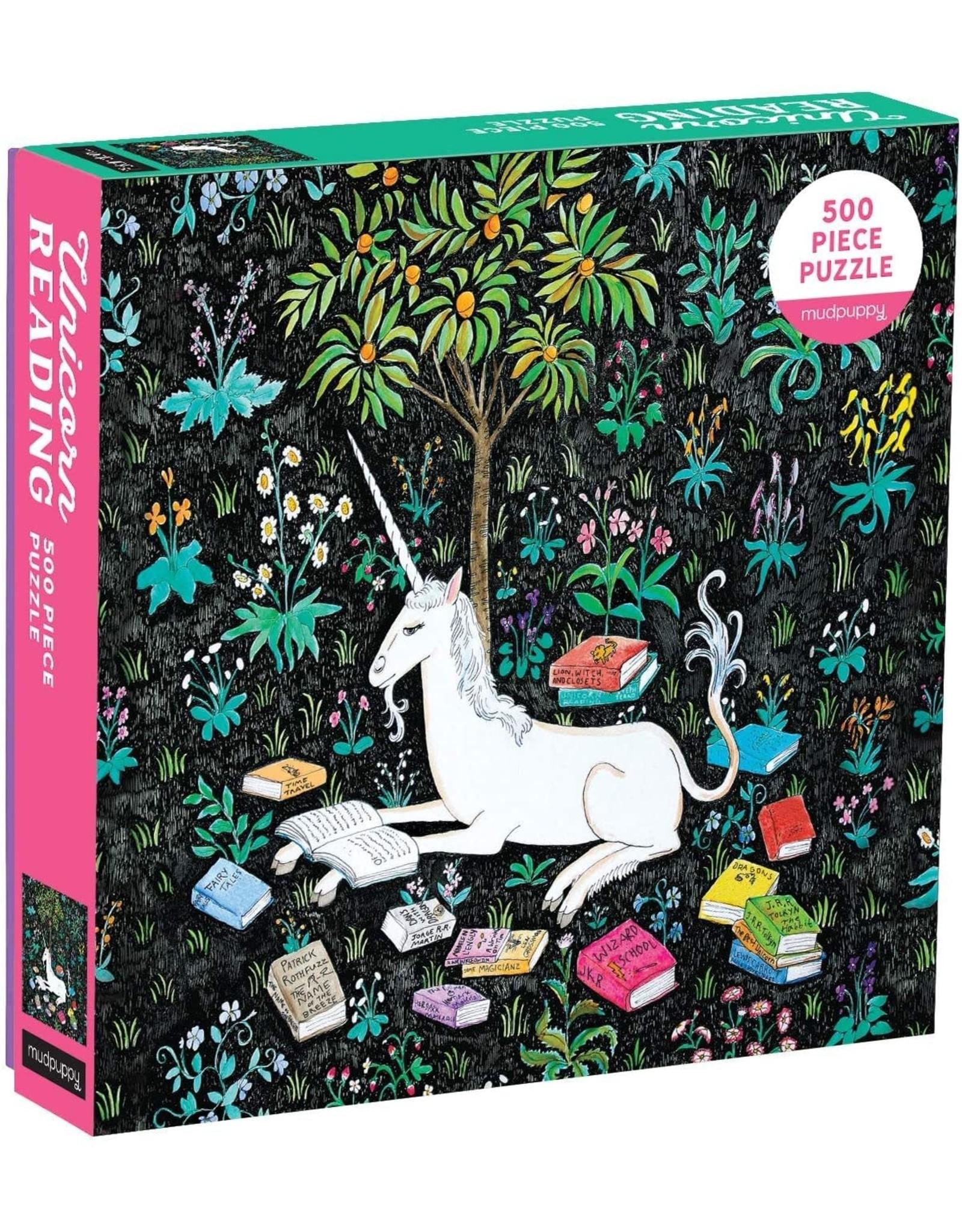 Mudpuppy Unicorn Reading 500pc