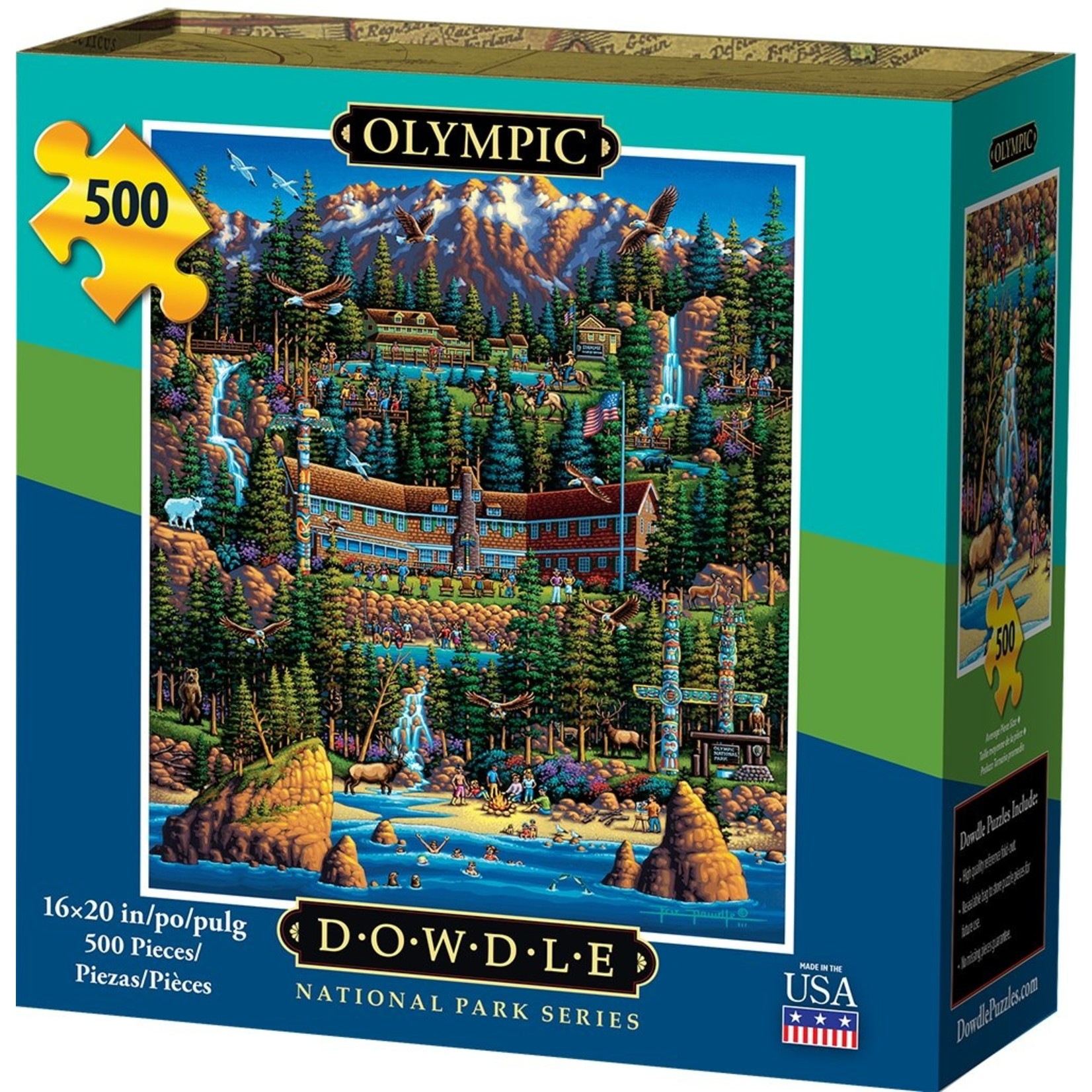 Dowdle Folkart Olympic National Park 500pc