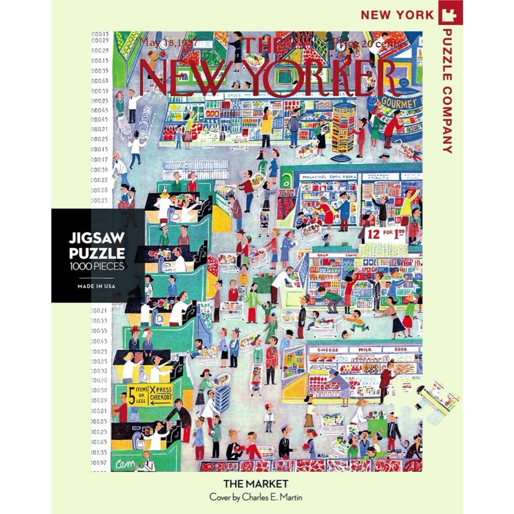 New York Puzzle Co The Market 1000pc