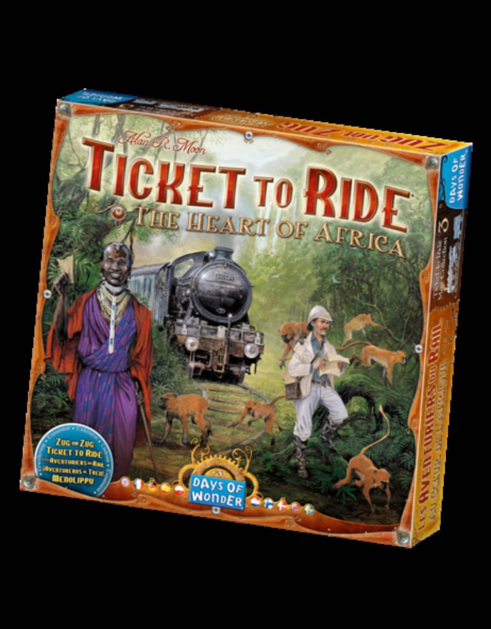 Days of Wonder Ticket to Ride: Africa Map