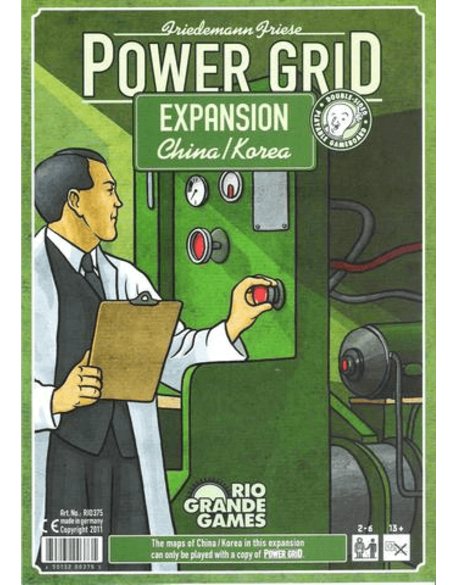 Rio Grande Games Power Grid: Korea/China Expansion