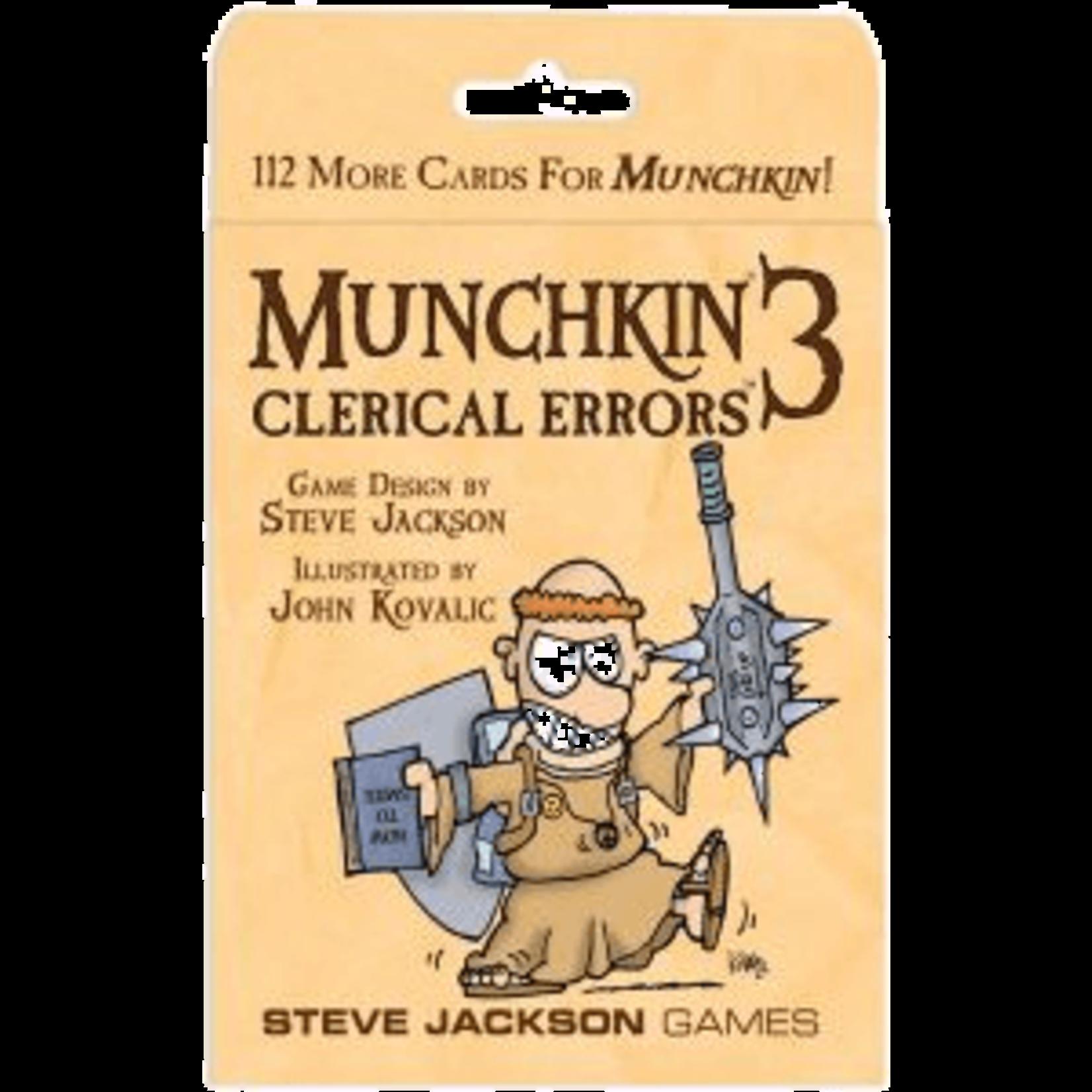 Steve Jackson Games Munchkin 3: Clerical Errors Expansion