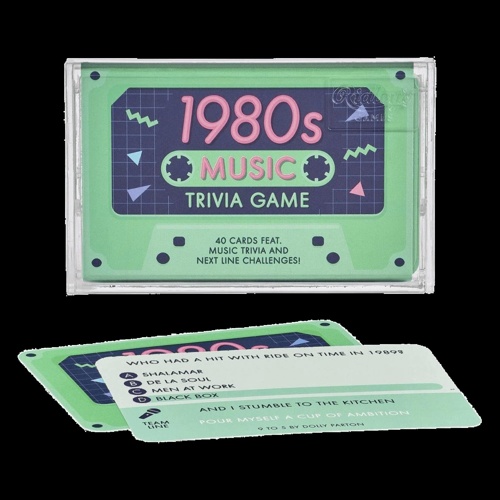 Chronicle Books 1980s Music Trivia Game