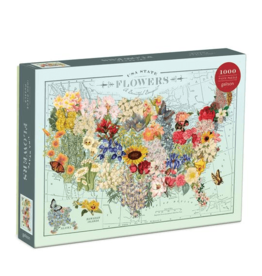 Galison State Flowers 1000pc