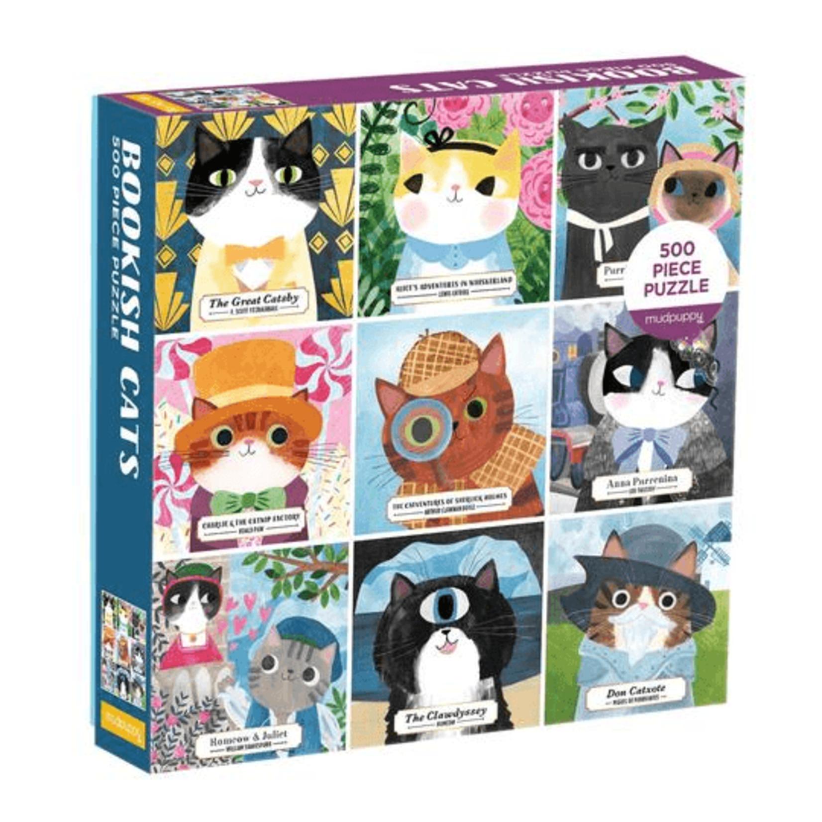 Galison Bookish Cats 500pc