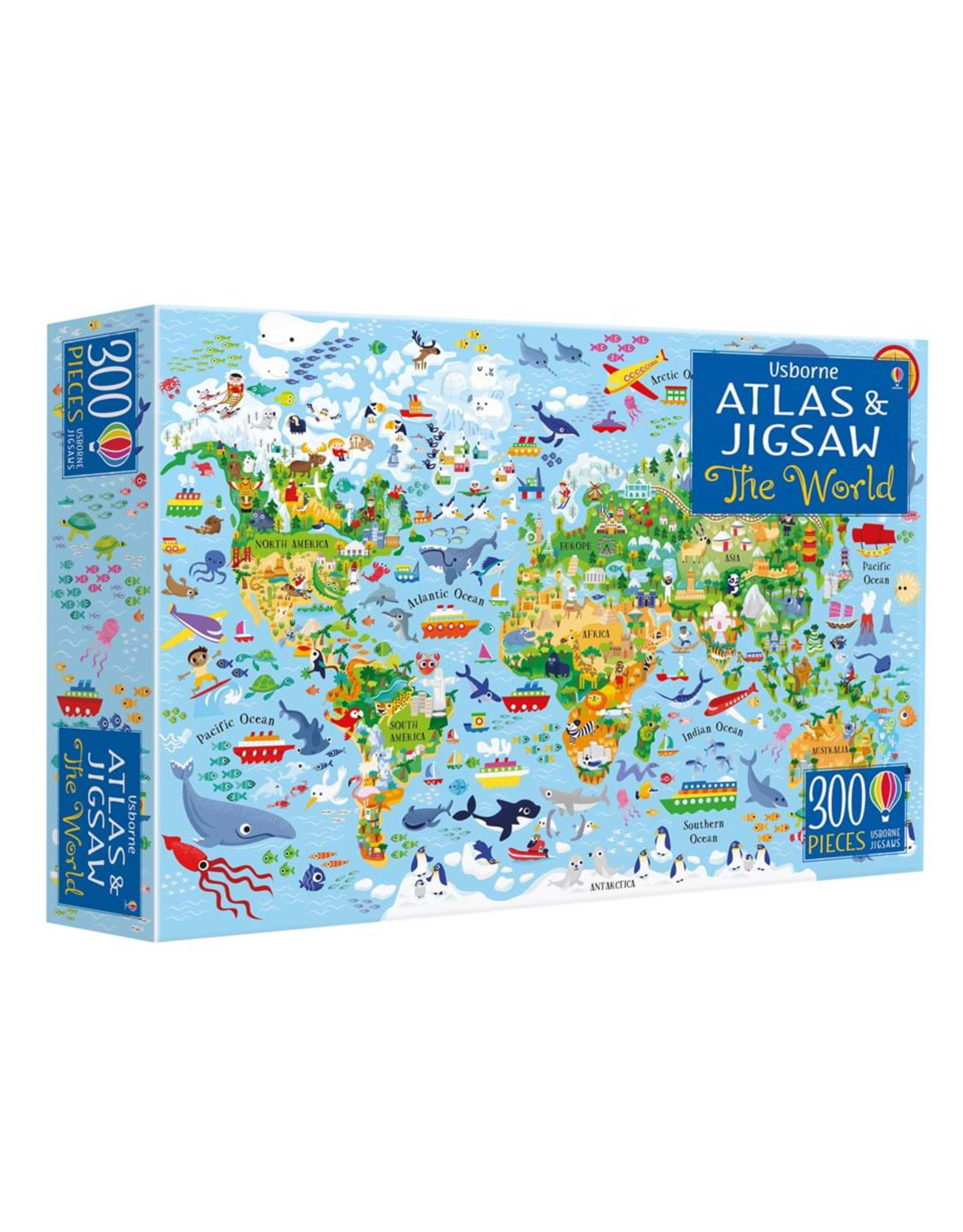 Usborne Atlas Book & Jigsaw 300pc
