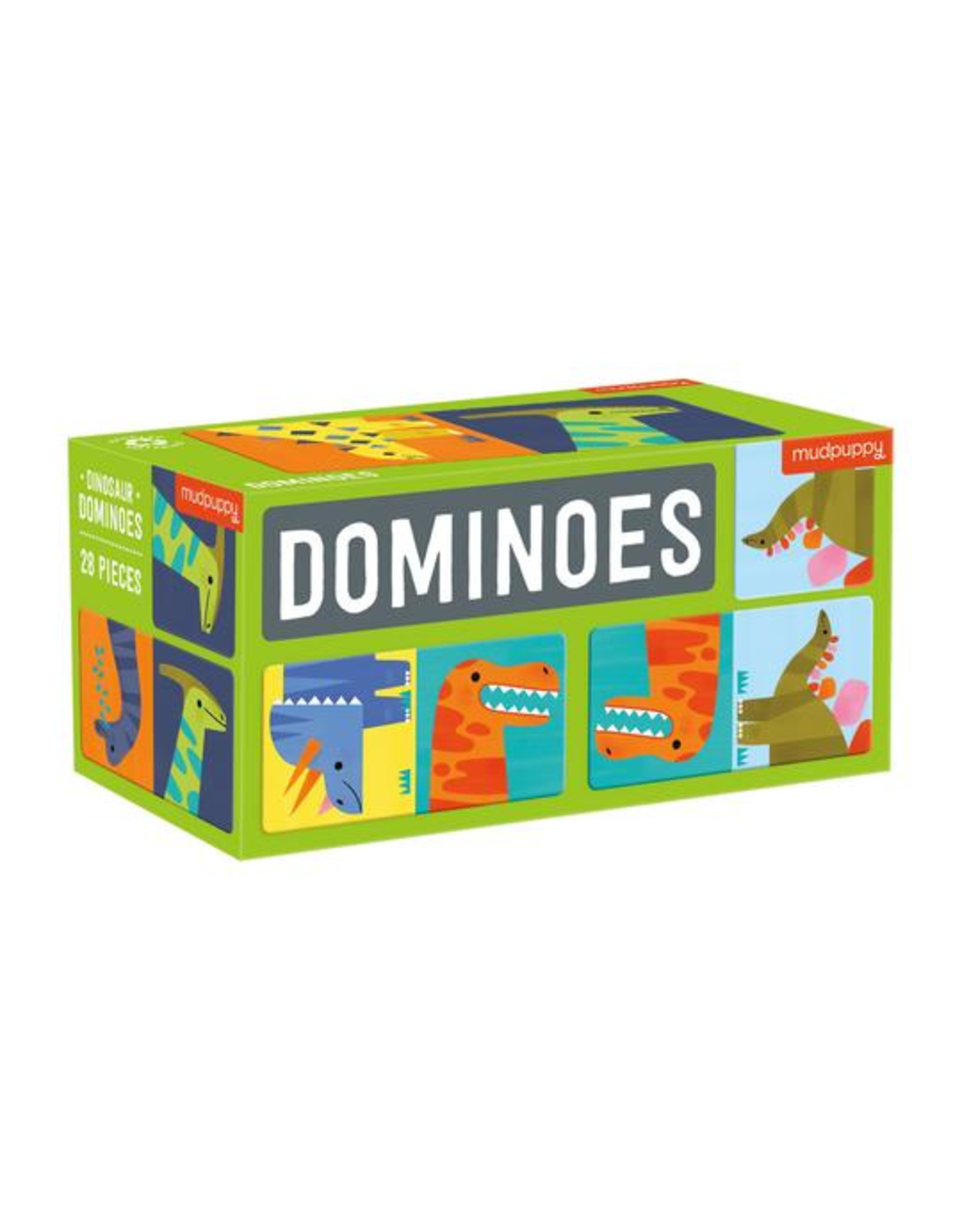 Mudpuppy Dominoes: Dinosaur