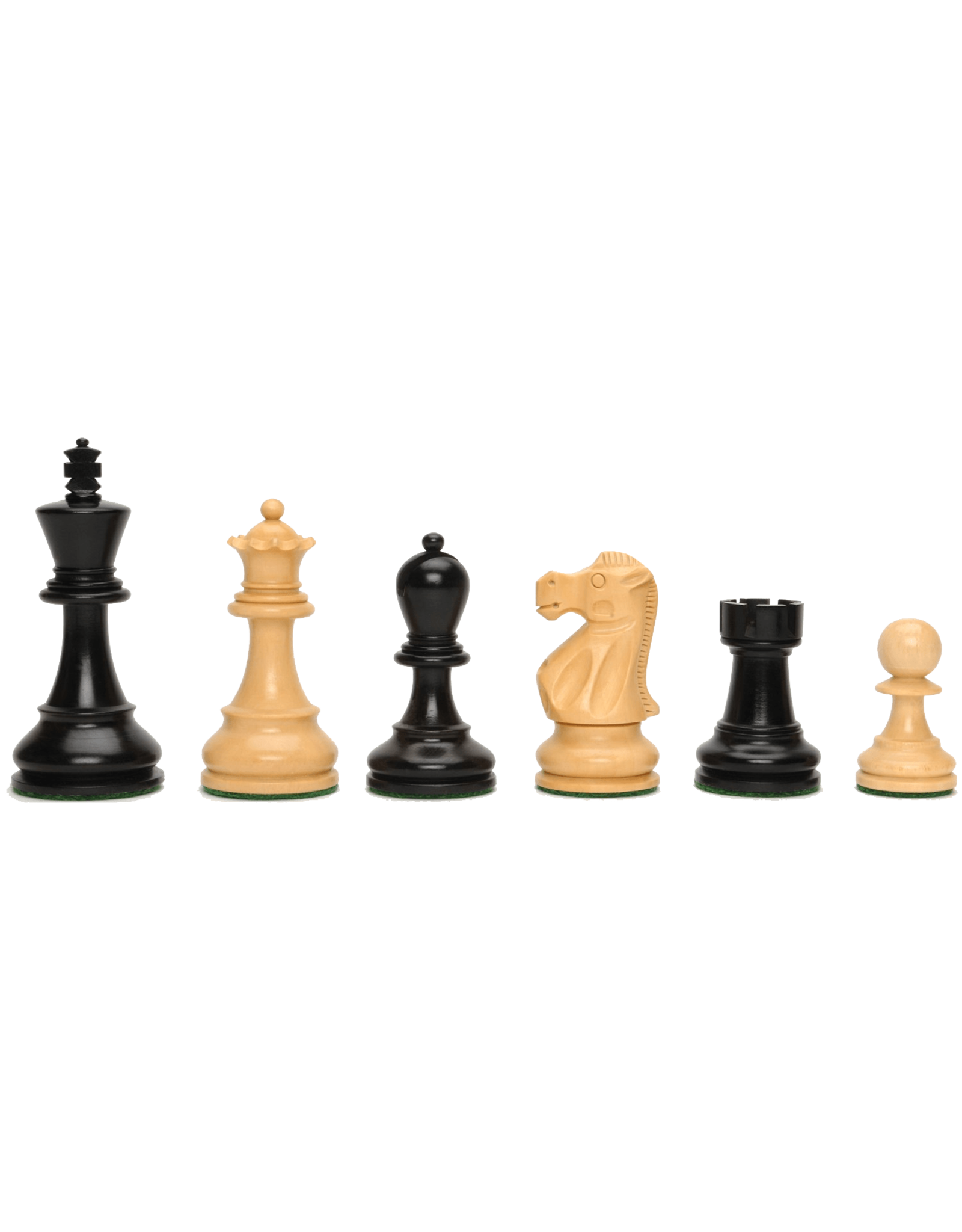 CHESS MEN: Black 3 1/4""