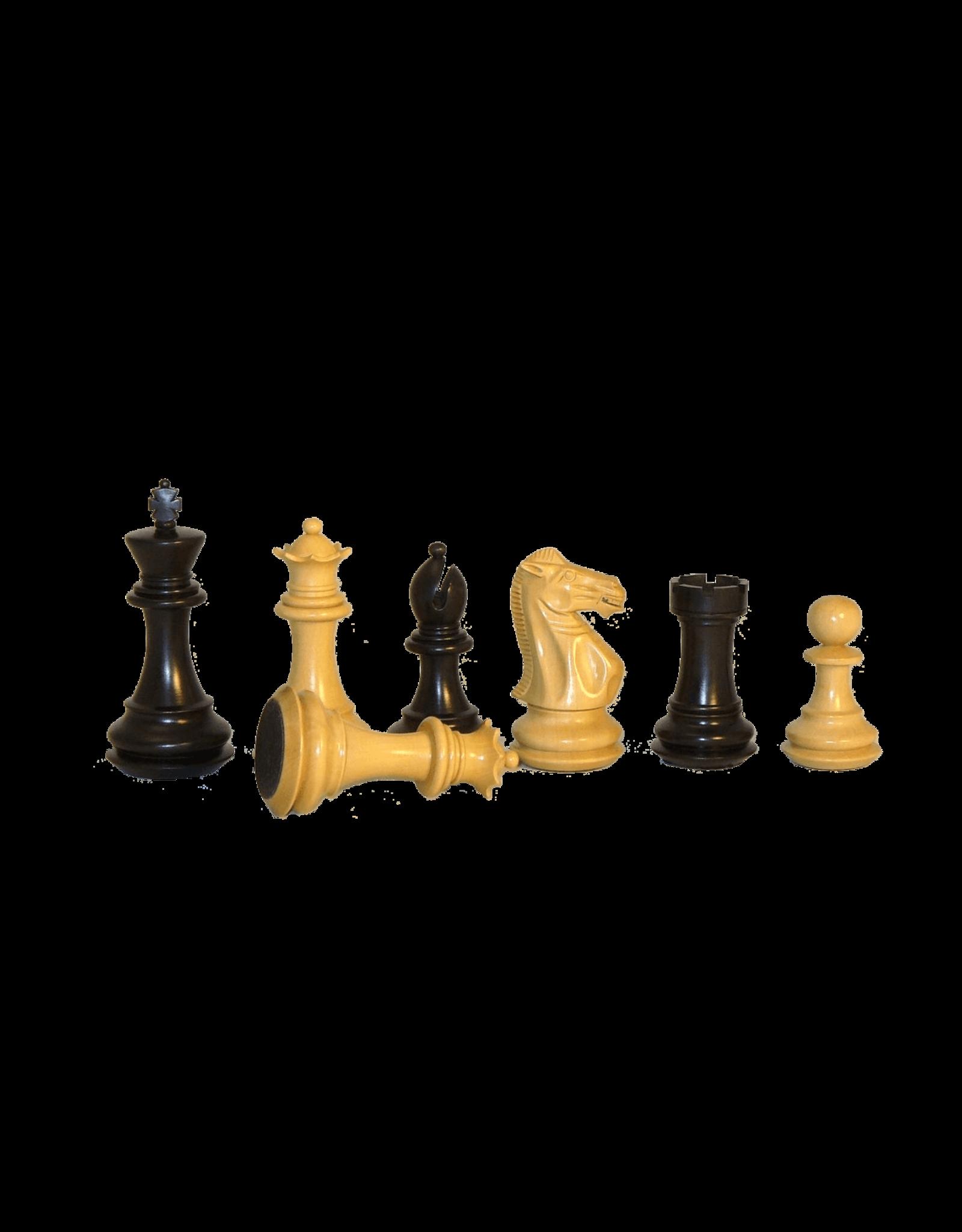 "CHESS MEN: Lg Black Exlusive 3x (4"")"