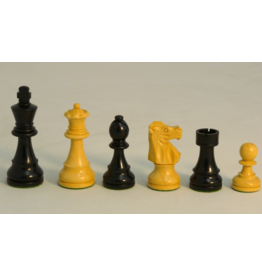 "CHESS MEN: Lg Black French 2x (3.75"")"