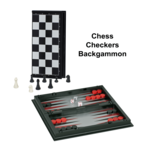 "CHESS SET: Folding 8"" 3:1 Plastic Magnetic"