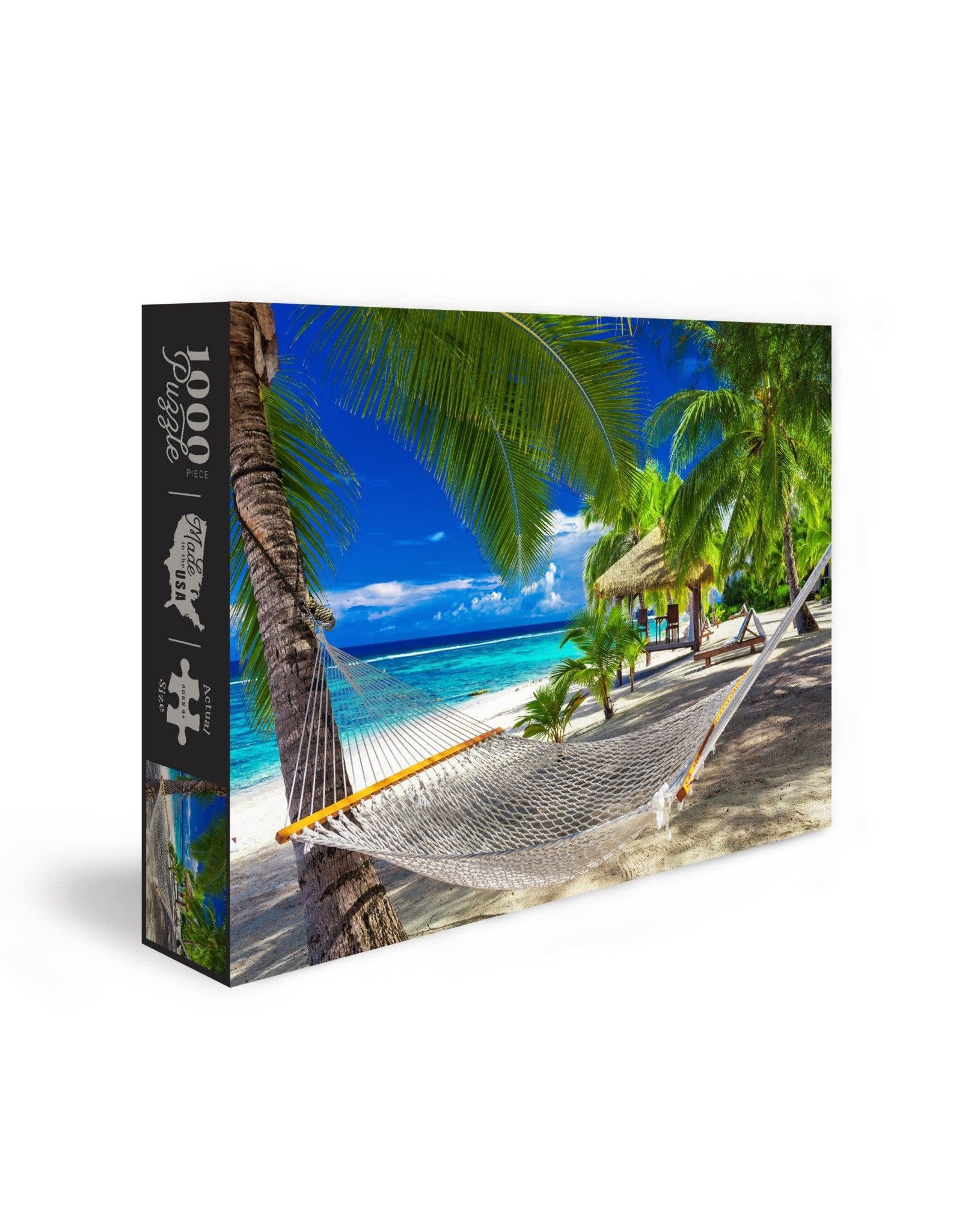 Hammock on Tropical Beach 1000 pc