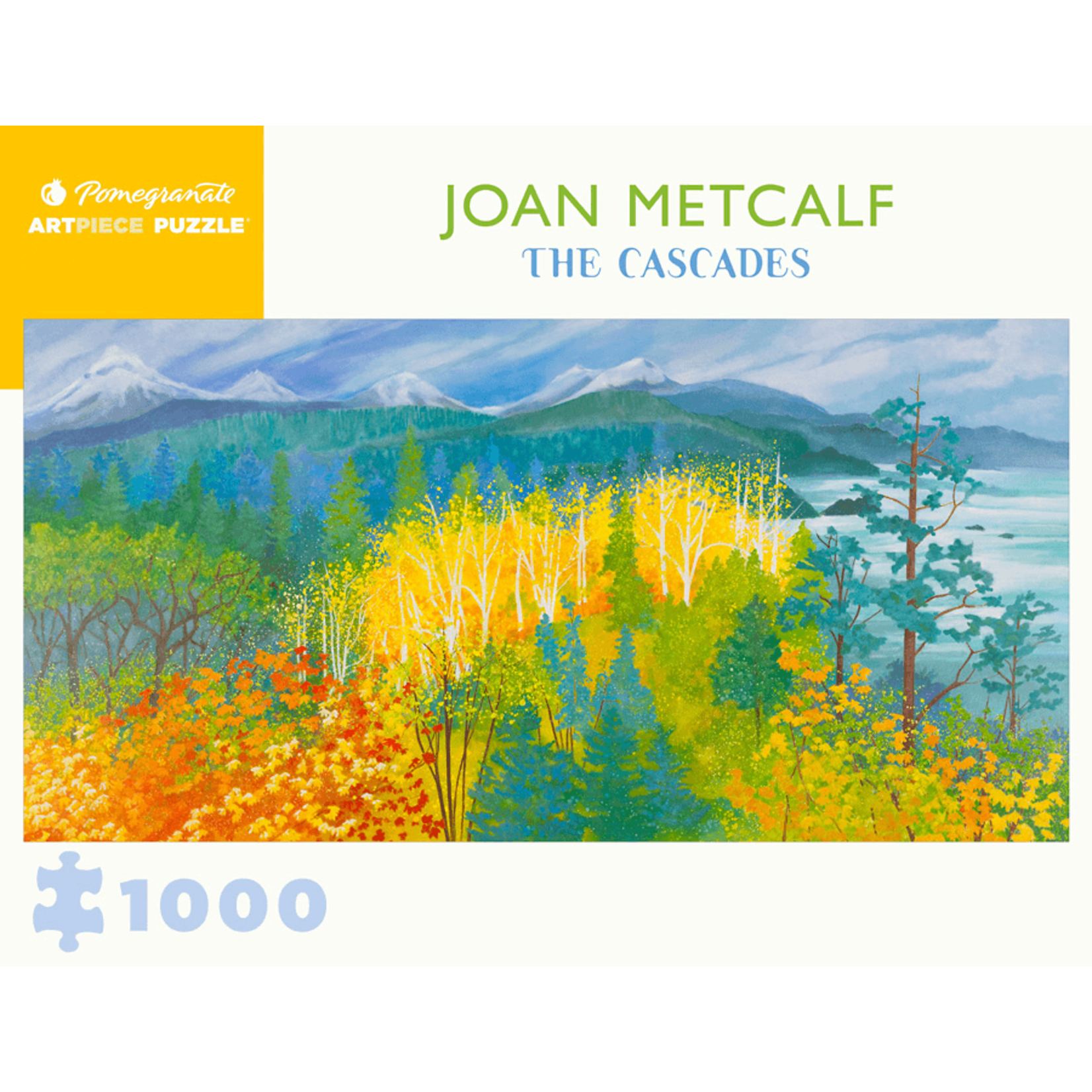 Pomegranate Puzzles The Cascades, Joan Metcalf 1000pc