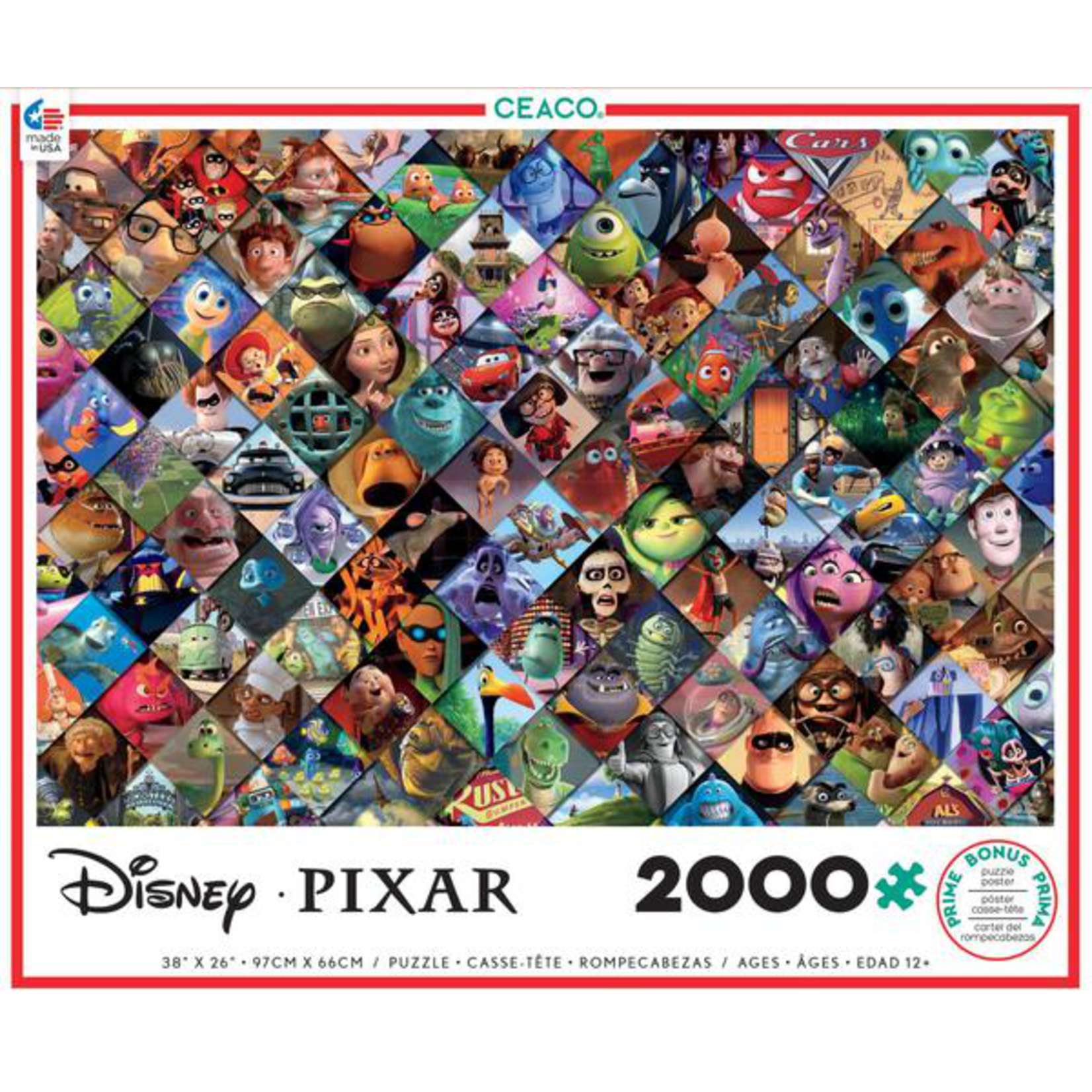 CEACO Pixar Clips 2000pc