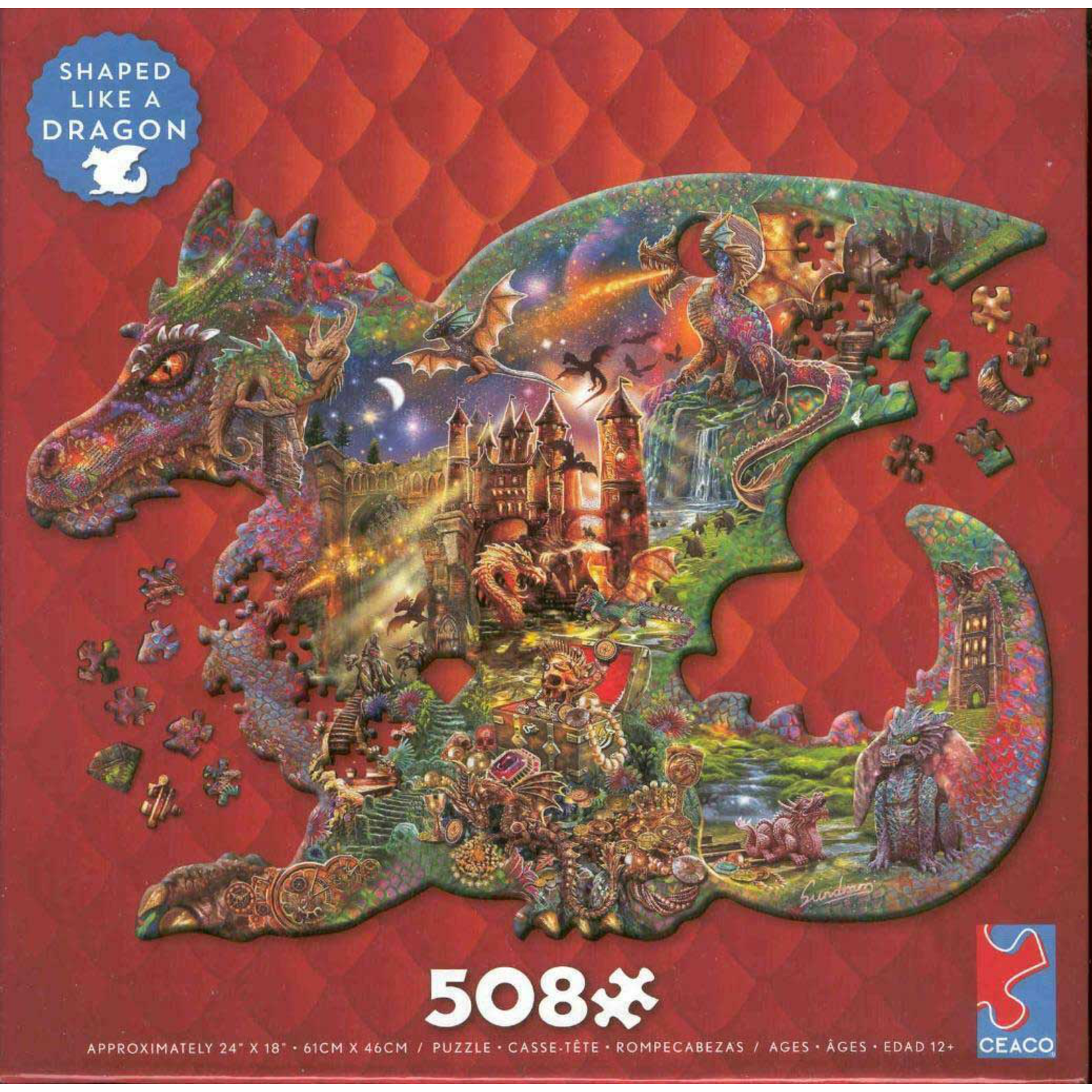 CEACO Puzzle Shapes Dragon 508pc
