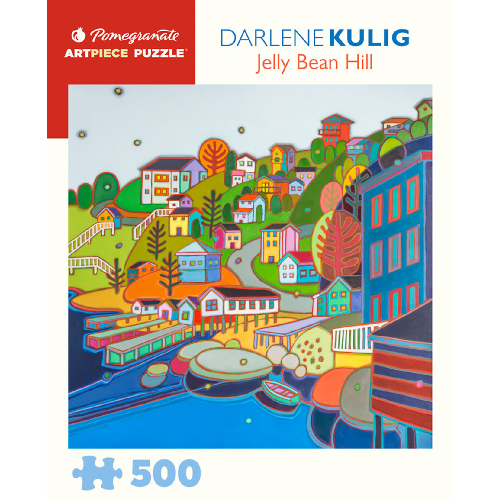 Pomegranate Puzzles Jelly Bean Hill, D Kulig 500pc