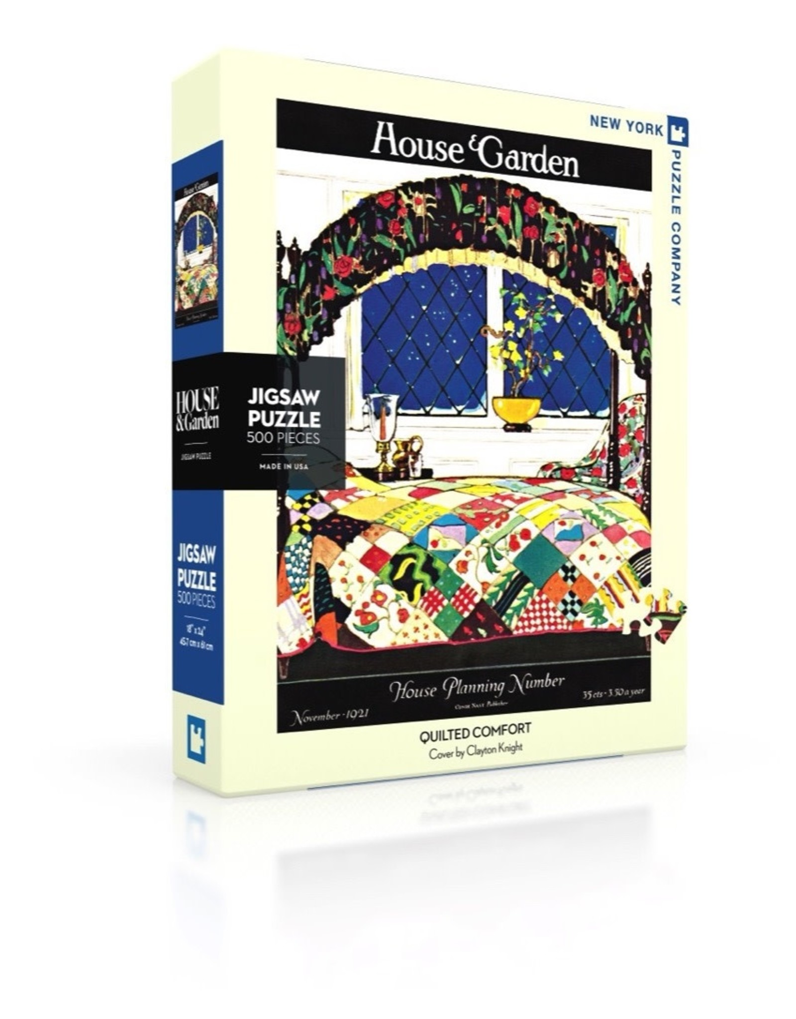 New York Puzzle Co Quilted Comfort 500pc