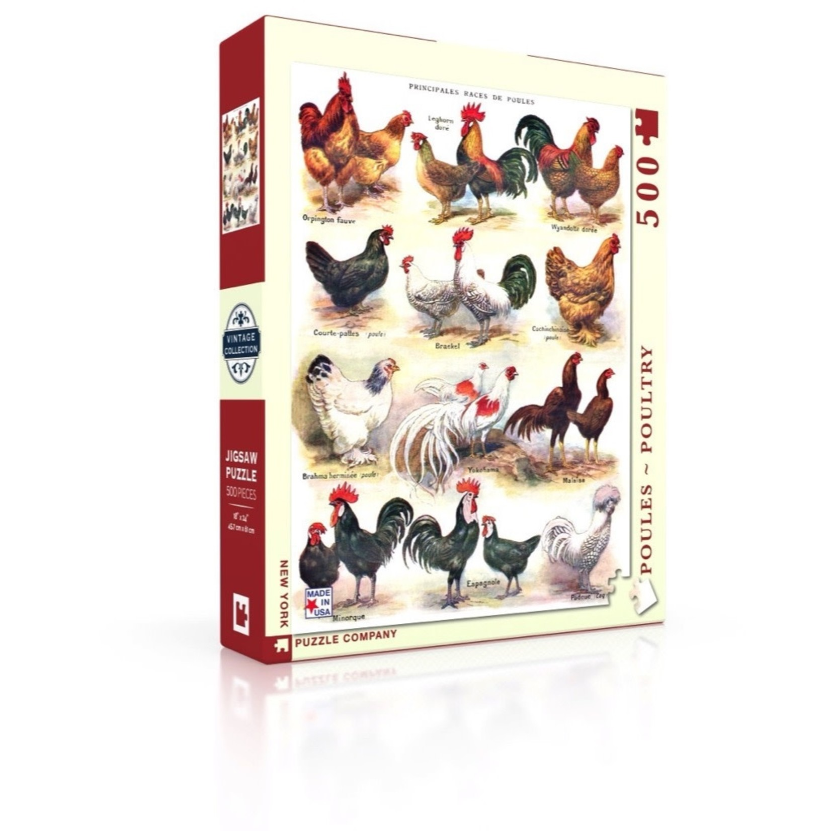New York Puzzle Co Poultry 500pc