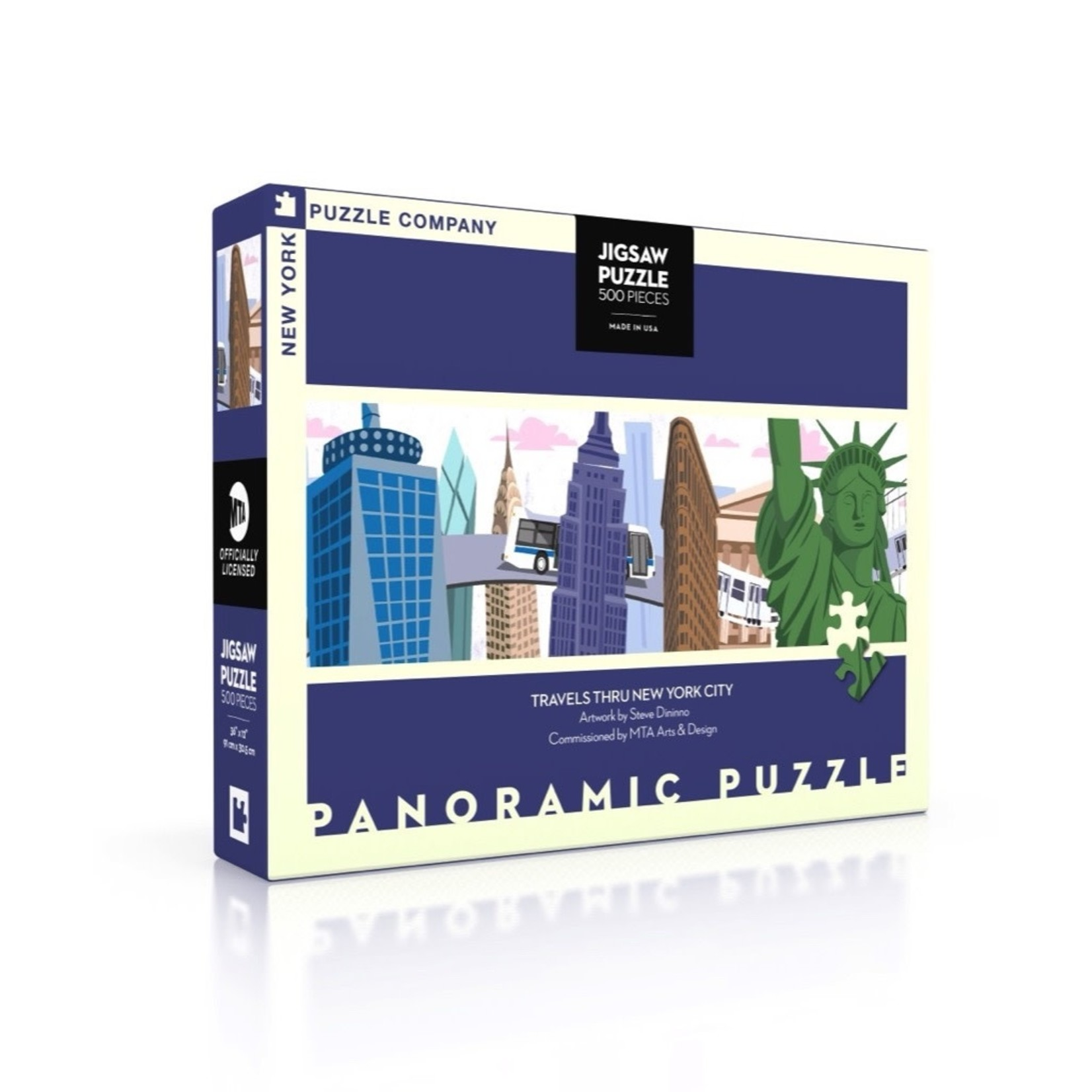 New York Puzzle Co Travels Thru NYC 500pc