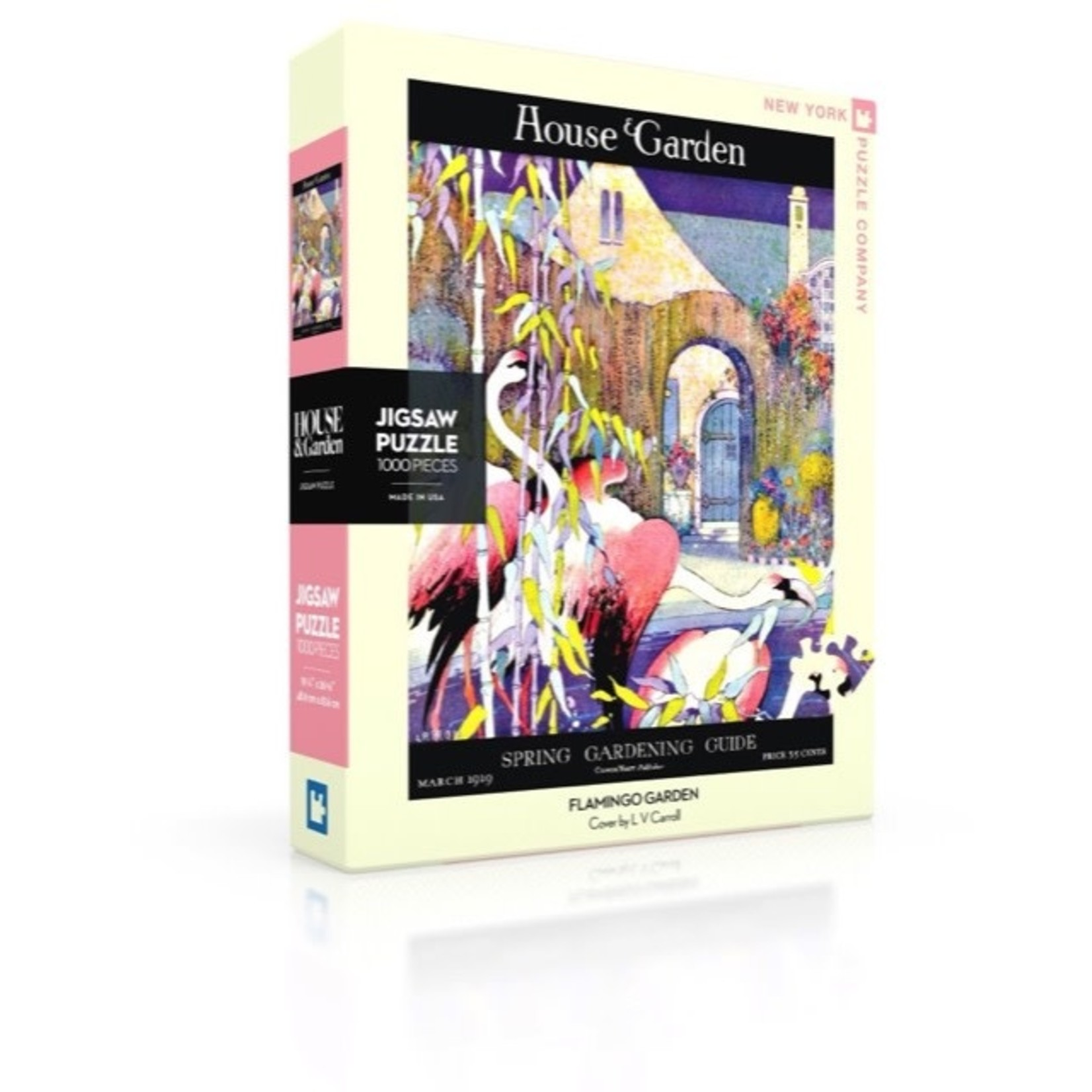 New York Puzzle Co Flamingo Garden 1000pc
