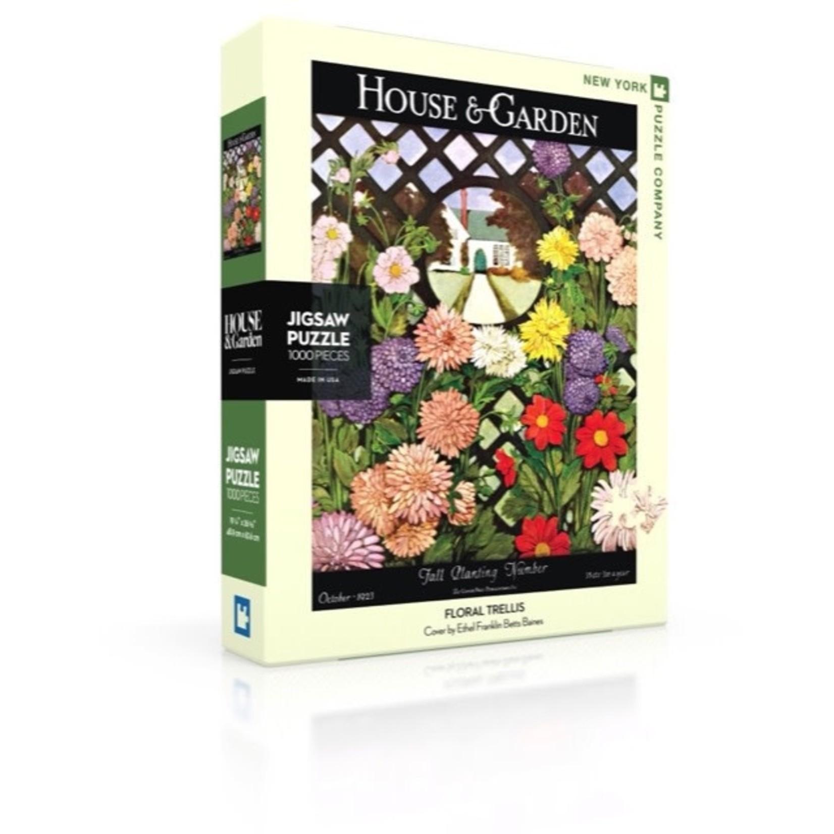 New York Puzzle Co Floral Trellis1000pc