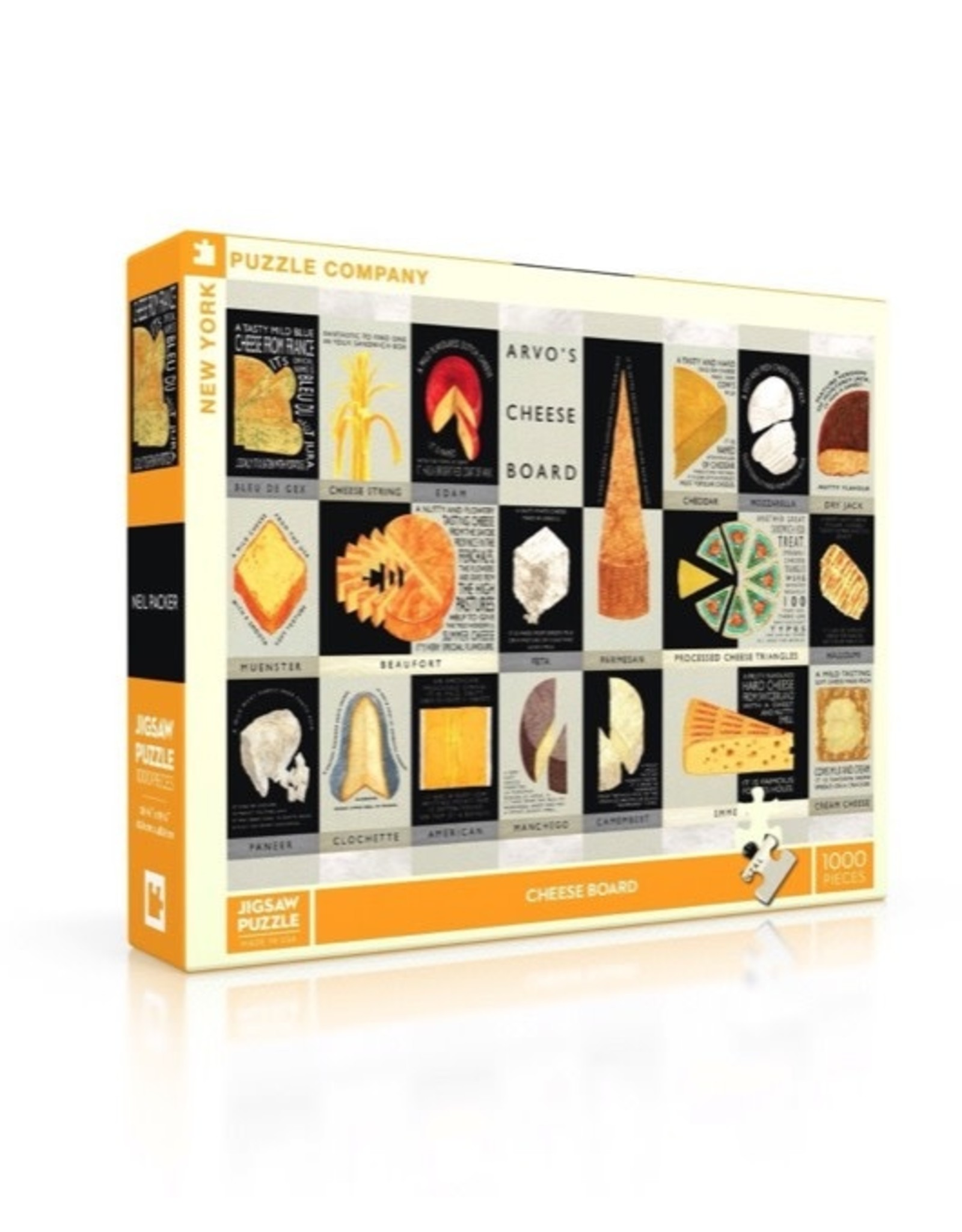 New York Puzzle Co cheese board 1000pc
