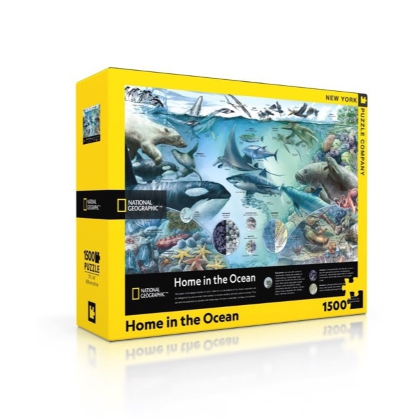 New York Puzzle Co Home in the Ocean 1500pc