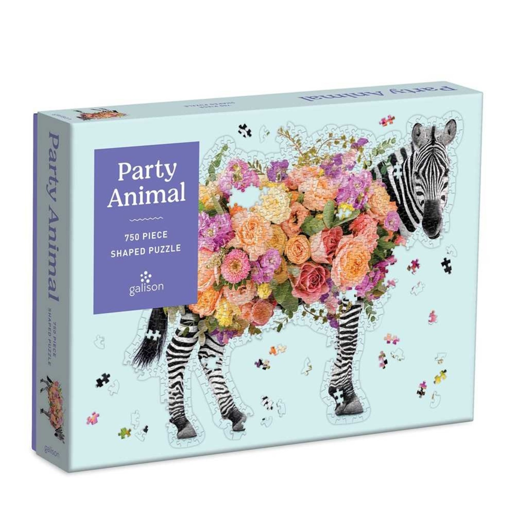 Galison Party Animal Shaped 750pc