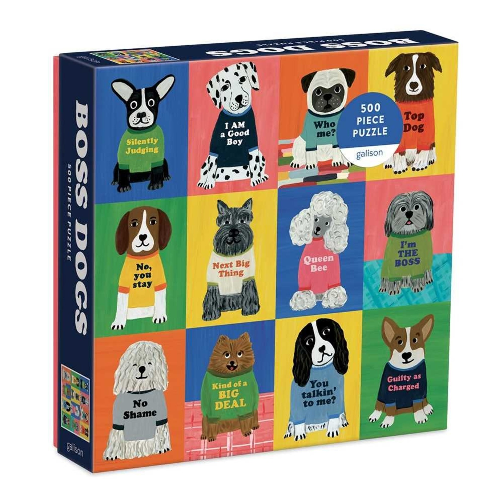 Galison Boss Dogs 500pc