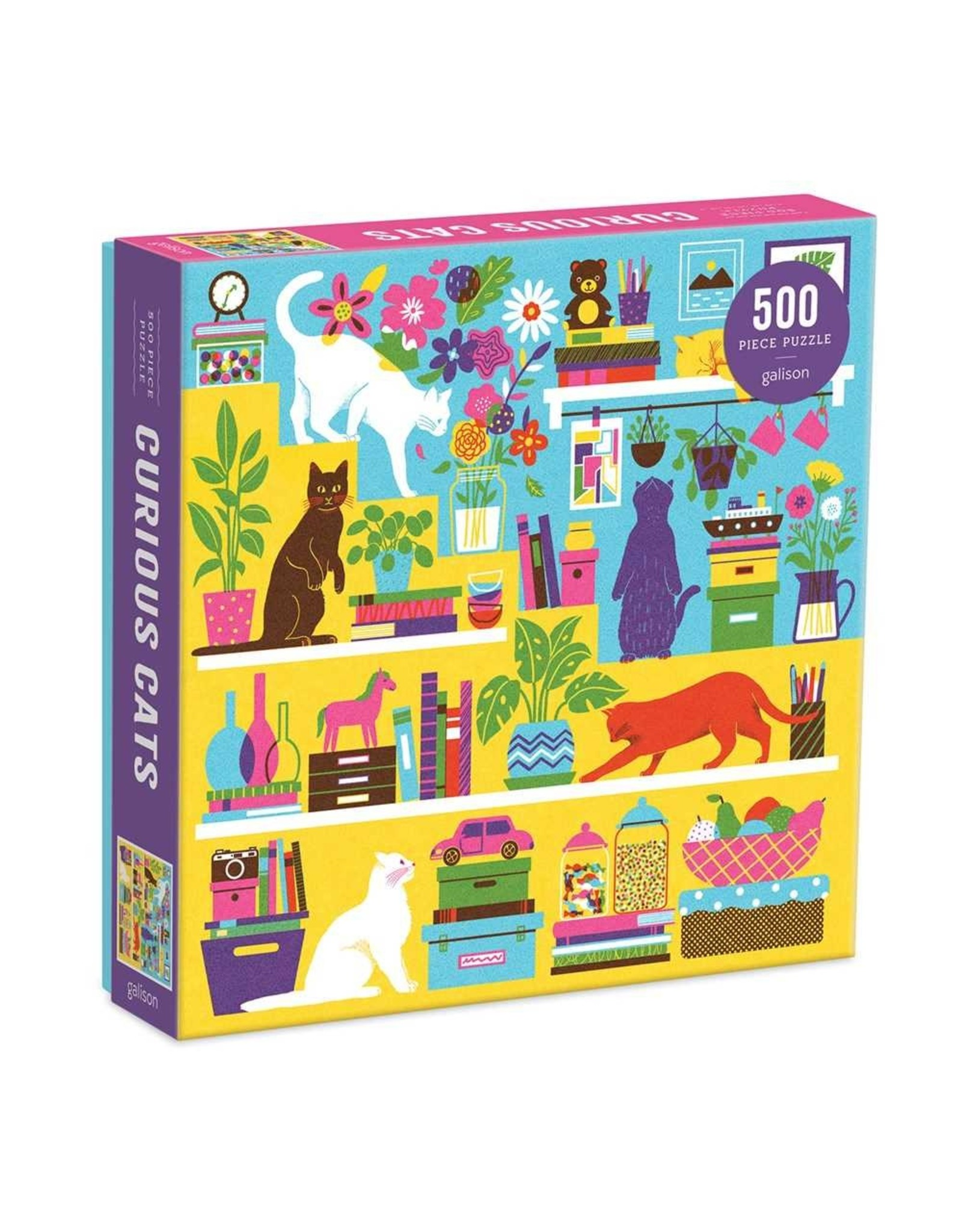 Galison Curious Cats 500pc