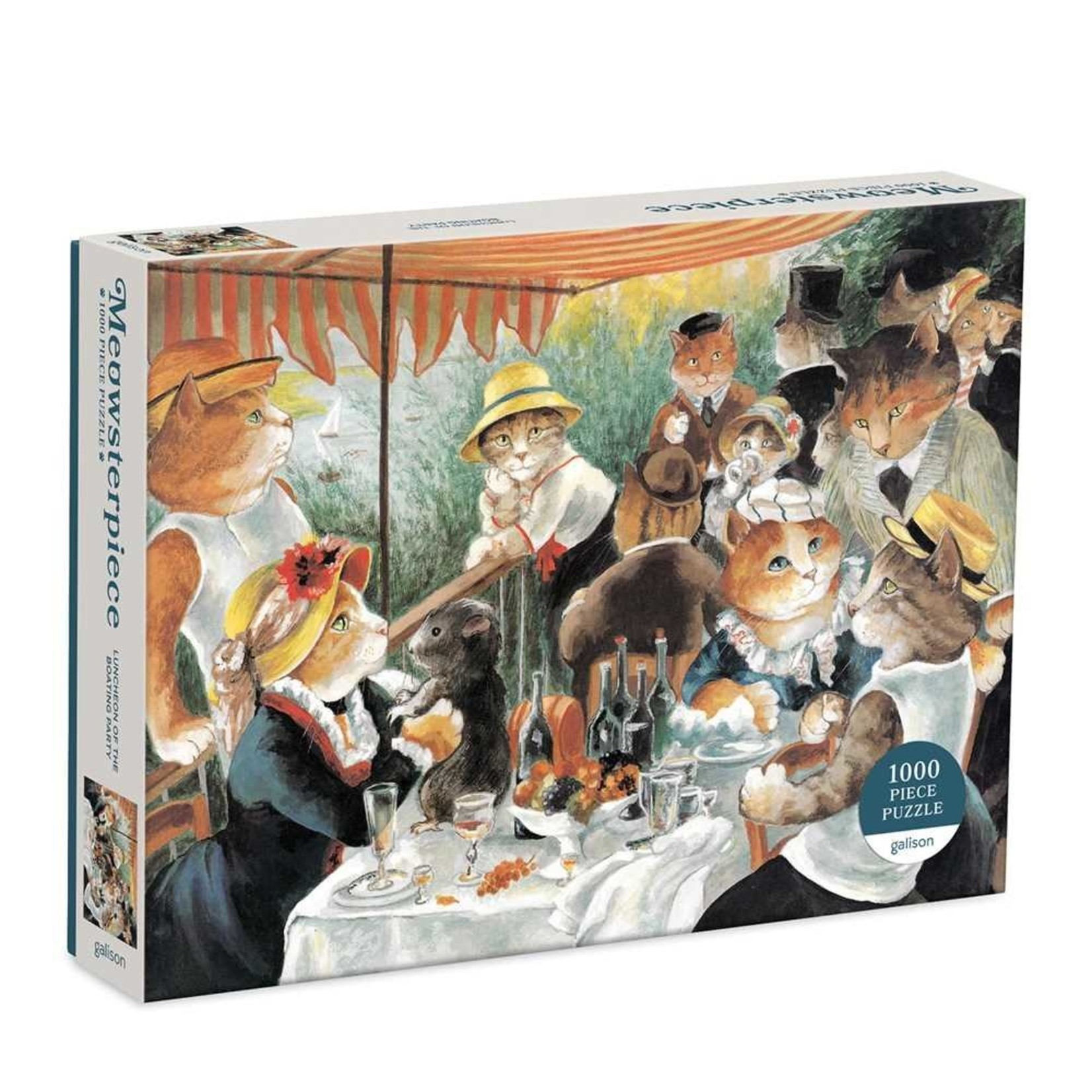Galison Luncheon Boating Party Meowsterpiece 1000pc
