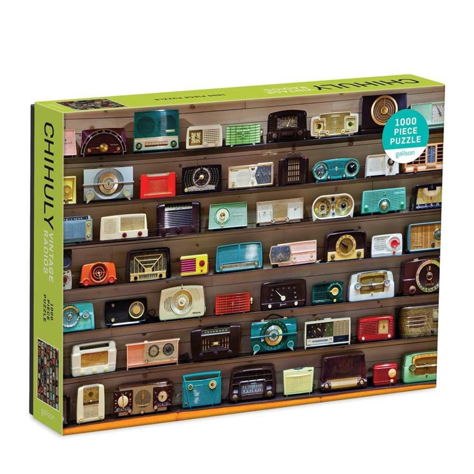 Galison Vintage Radios Chihuly 1000pc