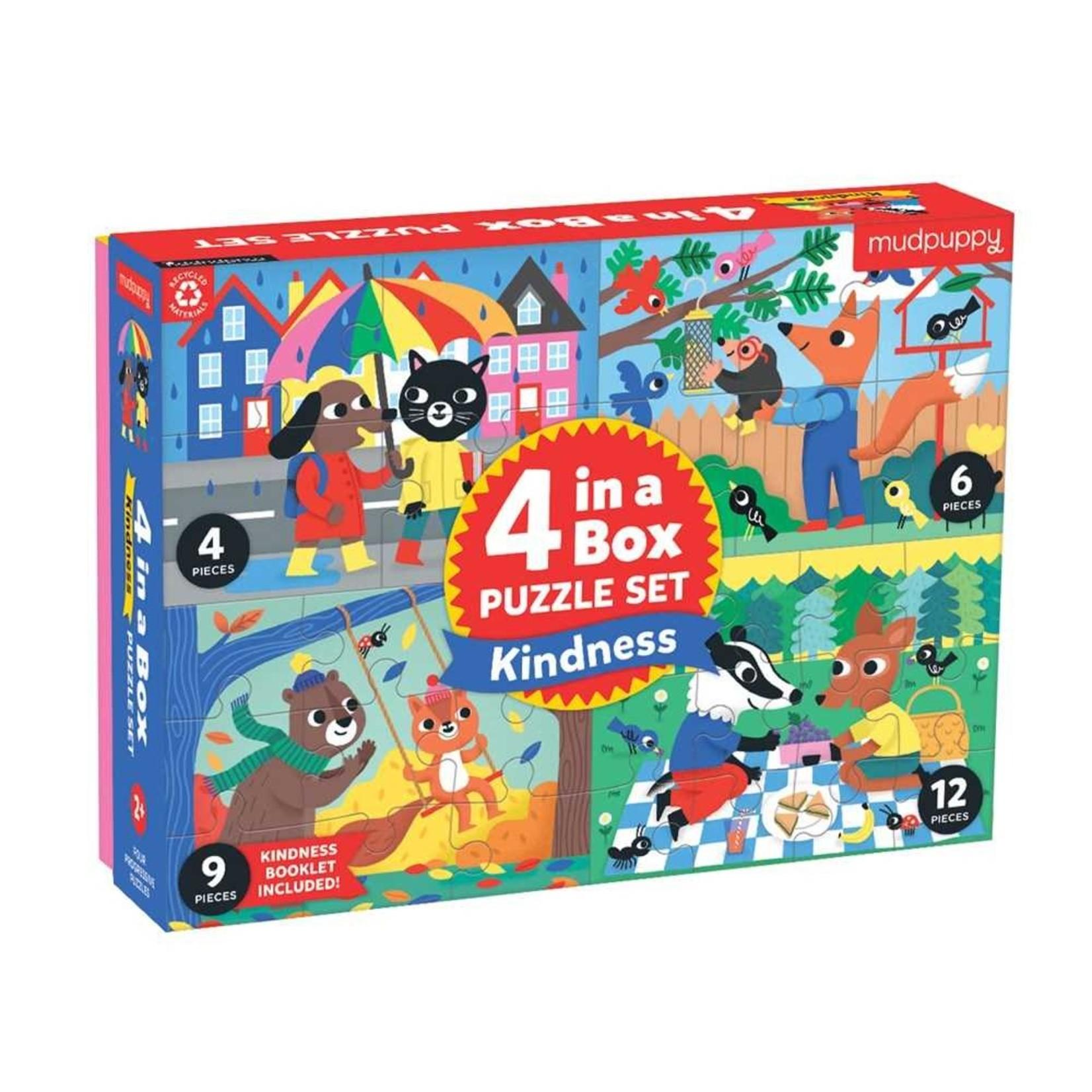 Mudpuppy Kindness 4-in-a-box Puzzle