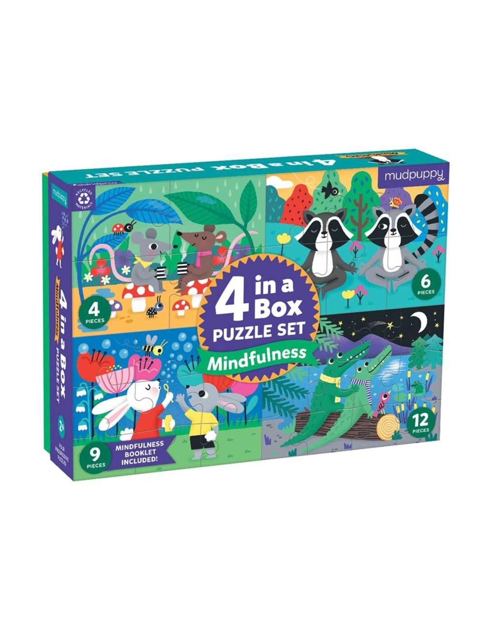 Mudpuppy Mindfulness 4-in-a-box Puzzle