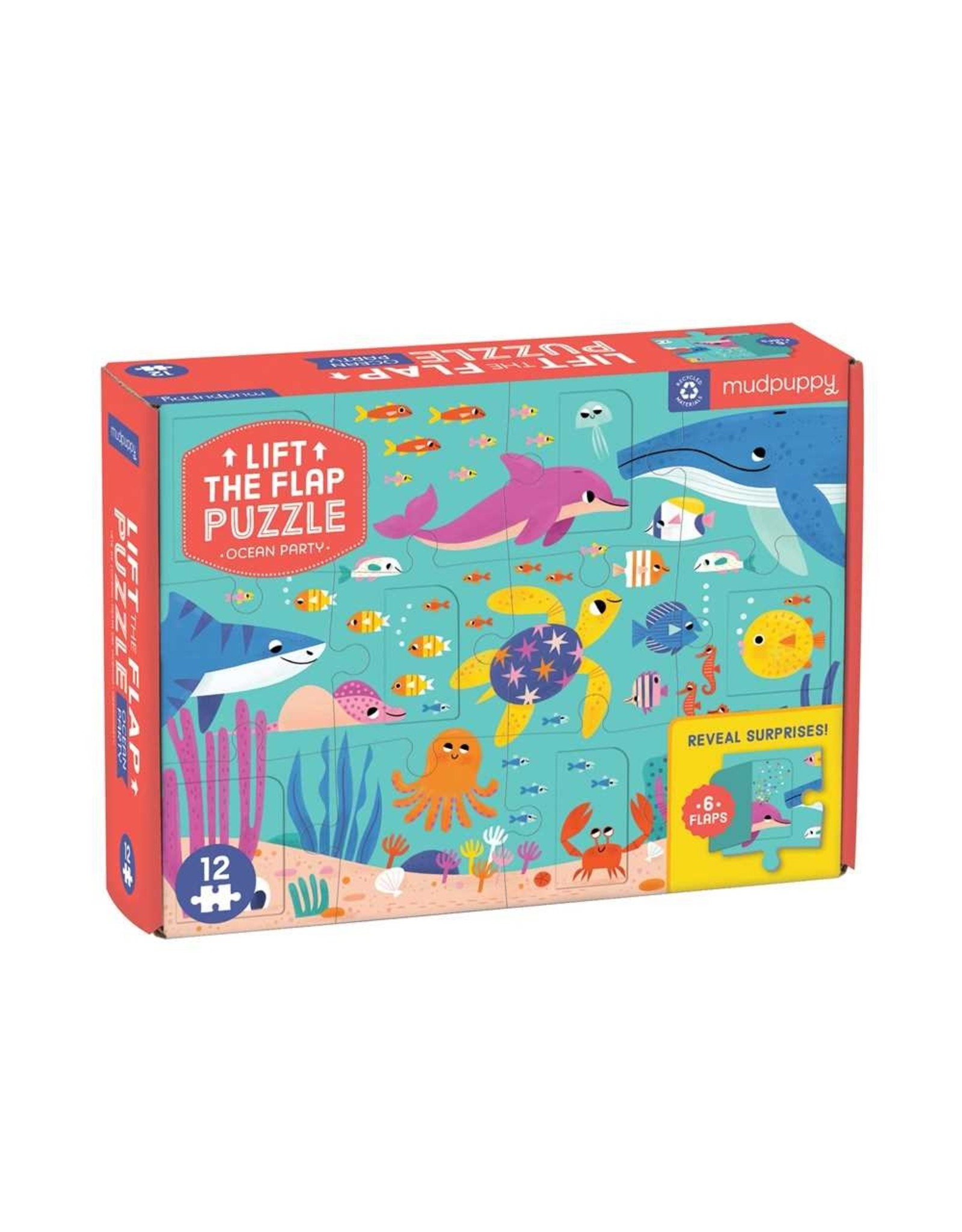 Mudpuppy Ocean Party Lift the Flap 10pc