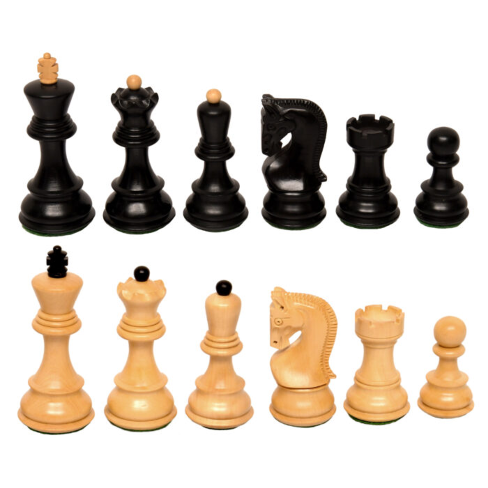 "Wood Expressions CHESS MEN: Lg Black Zagreb (3.75"")"