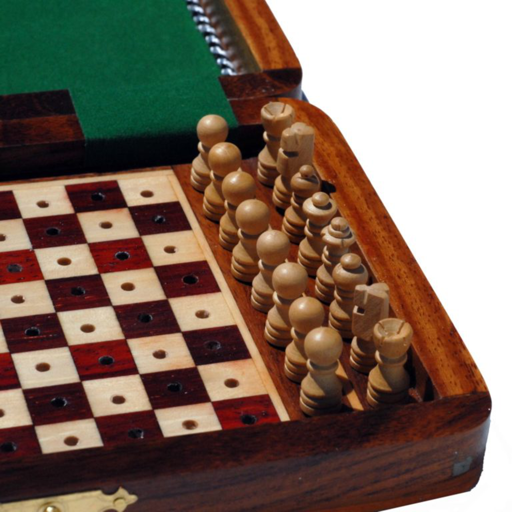 """Wood Expressions CHESS SET: Folding 7"""" Pegs"""