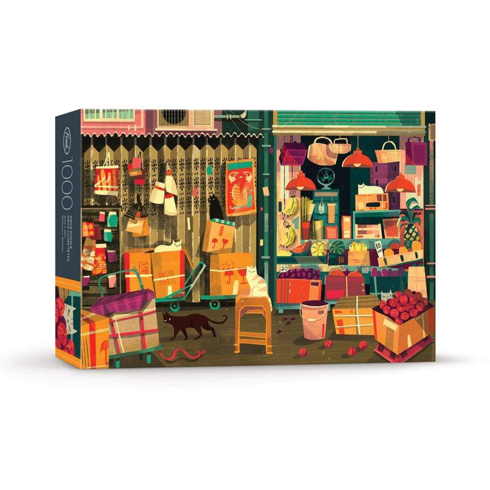 Fred & Friends Shop Cats 1000pc