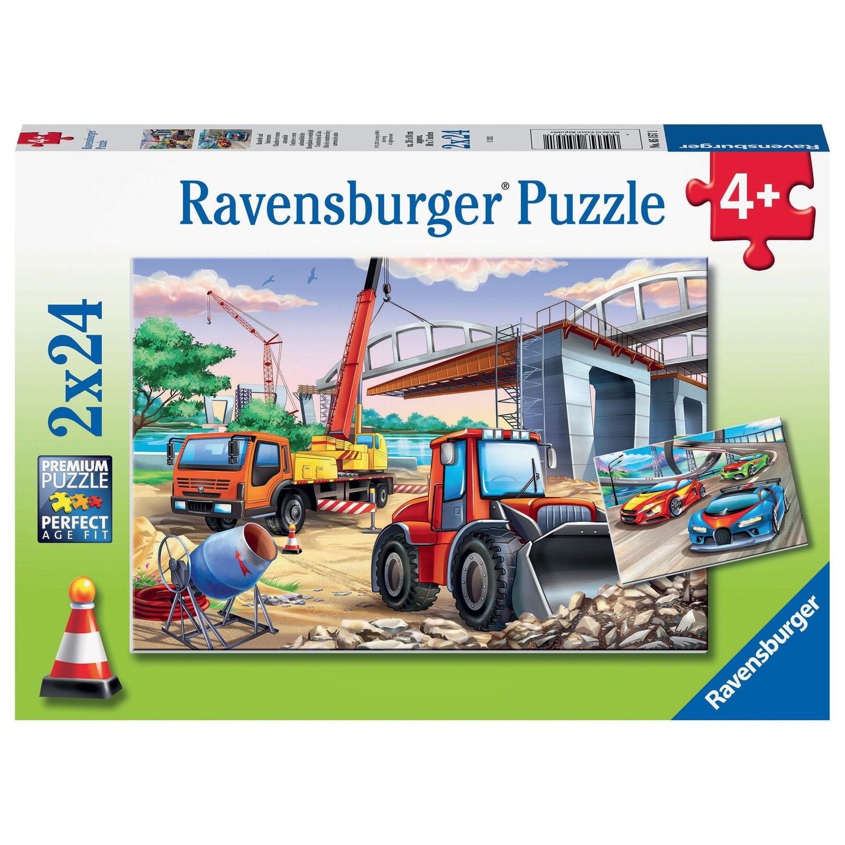 Ravensburger Construction & Cars 2x24pc