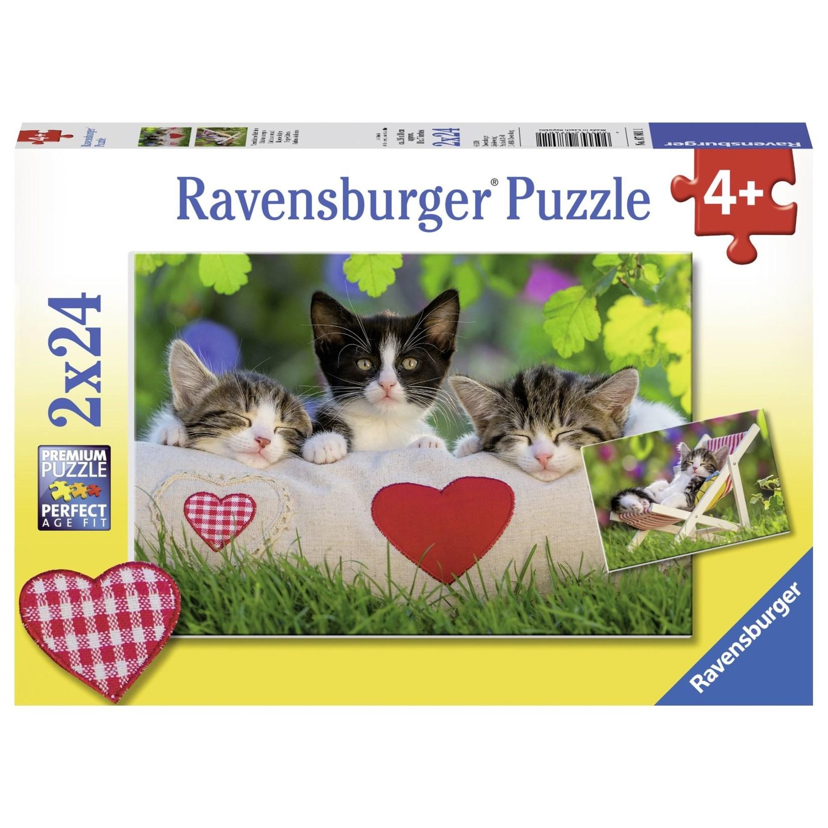 Ravensburger Sleepy Kittens 2x24pc