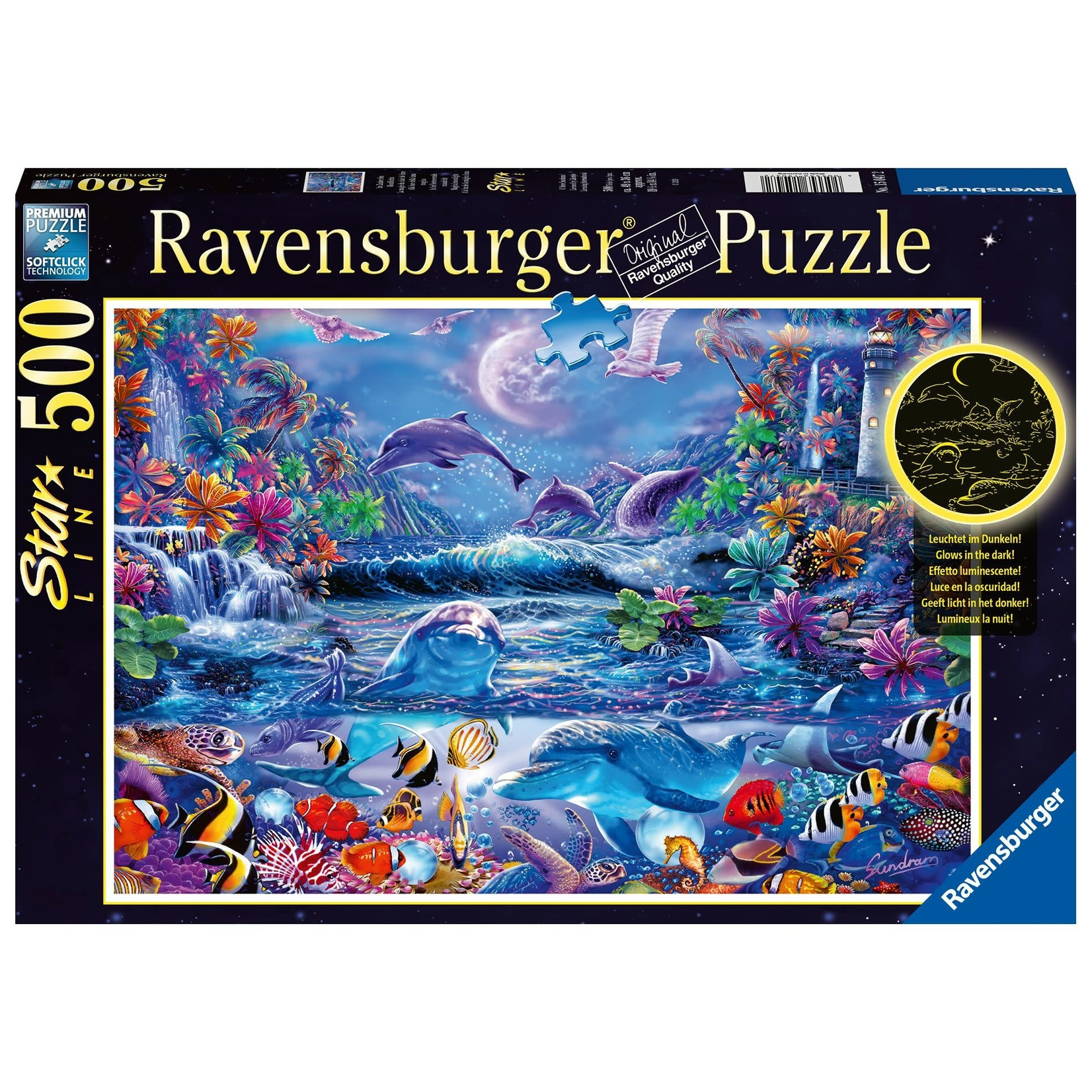 Ravensburger Moonlit Magic GITD 500pc