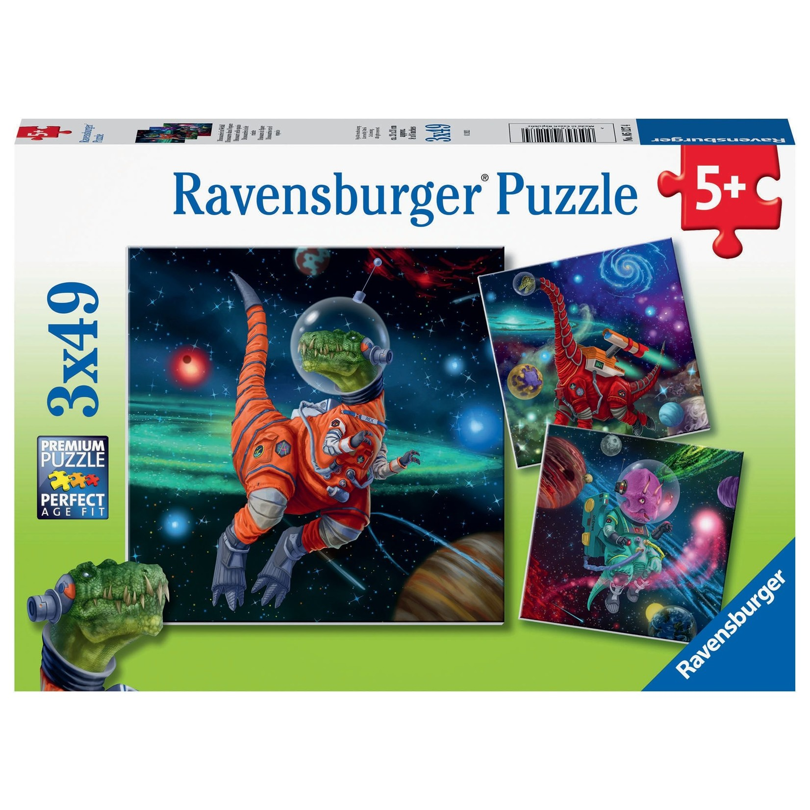 Ravensburger Dinosaurs in Space 3x49pc