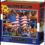 Dowdle Folkart Animals of America 500pc