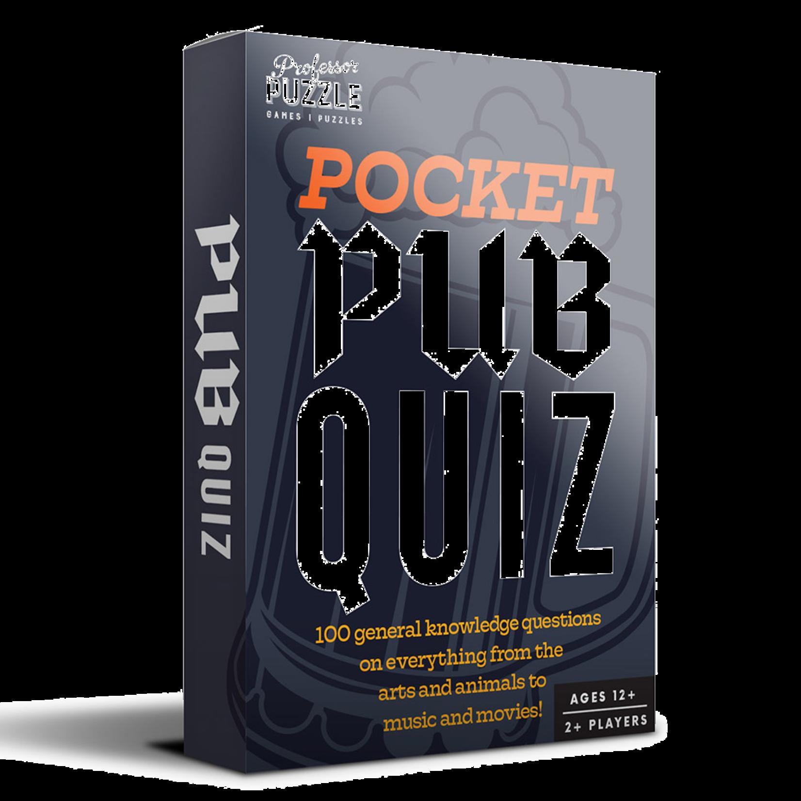 Professor Puzzle Pocket Pub Quiz