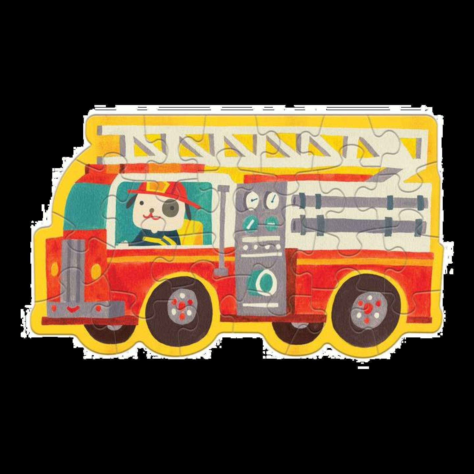 Mudpuppy Firetruck 24pc