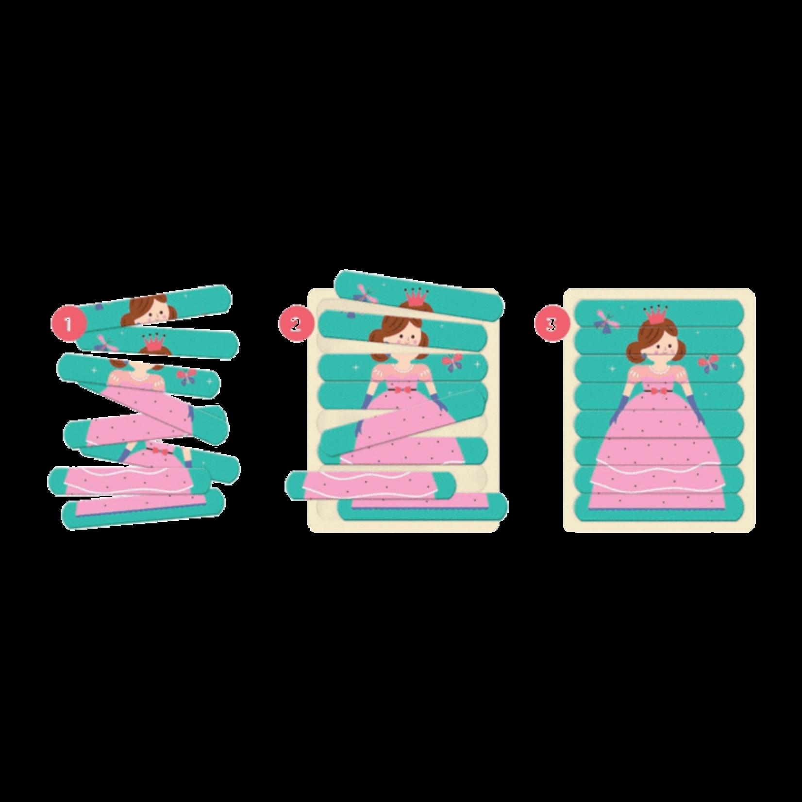 Mudpuppy Enchanting Princess Puzzle Sticks 6 Pack 8pc