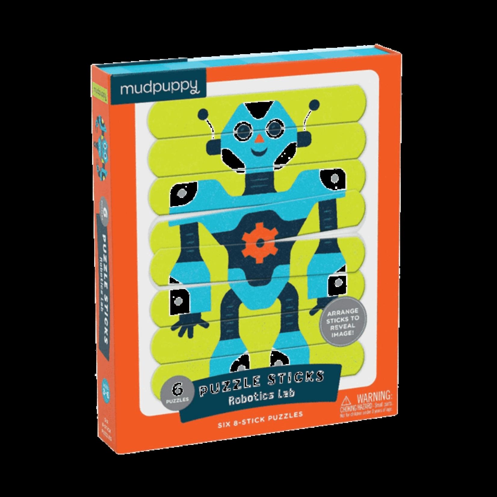 Mudpuppy Robotics Lab Puzzle Sticks 6 Pack 8pc