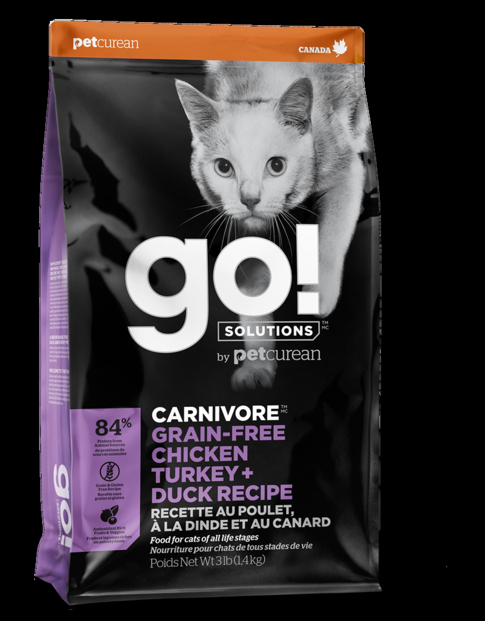 GO! GO! Carnivore CAT GF Chicken Turkey Duck 8lb