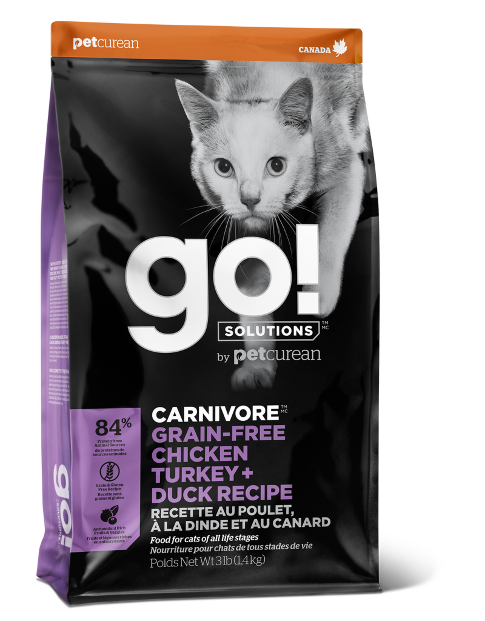 GO! GO! Carnivore CAT GF Chicken Turkey Duck 3lb
